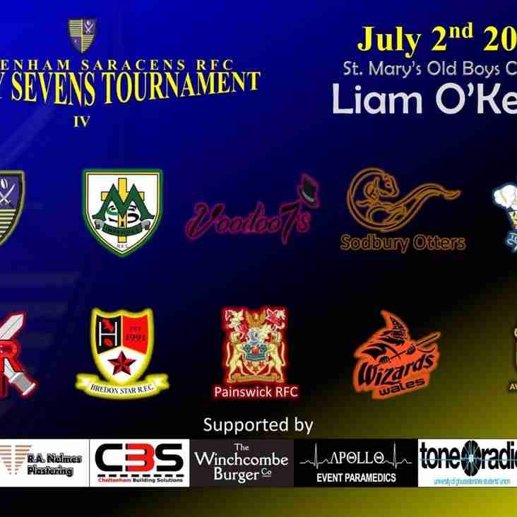 Cheltenham Saracens 7s Saturday 2nd July -  Update