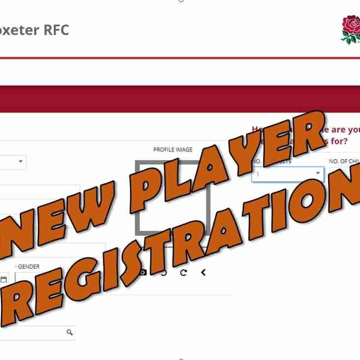 New Player Registration