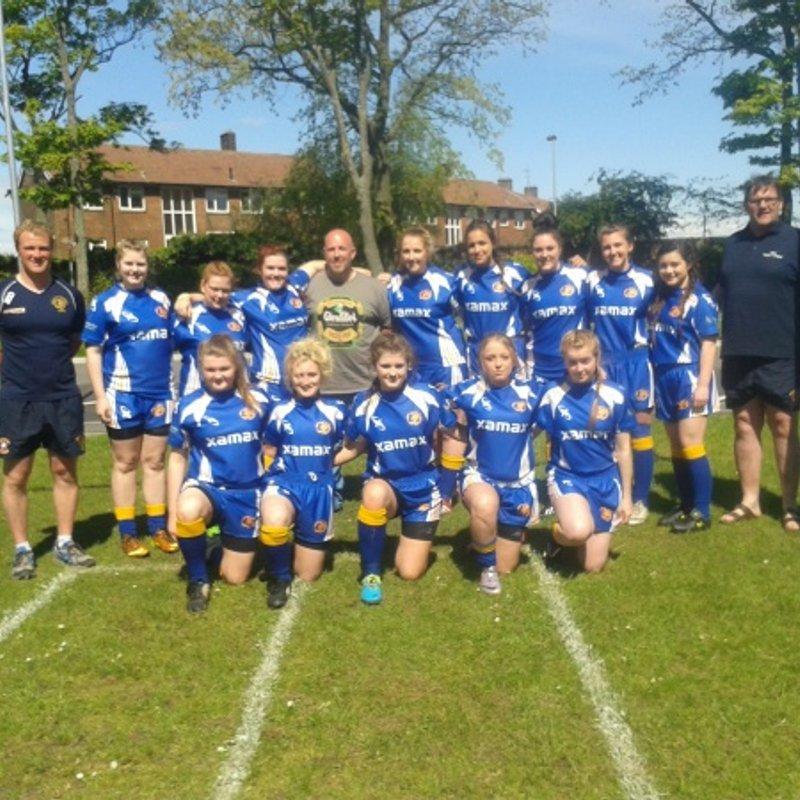 Under 16 Girls beat Wibsey Warriors   48 - 4