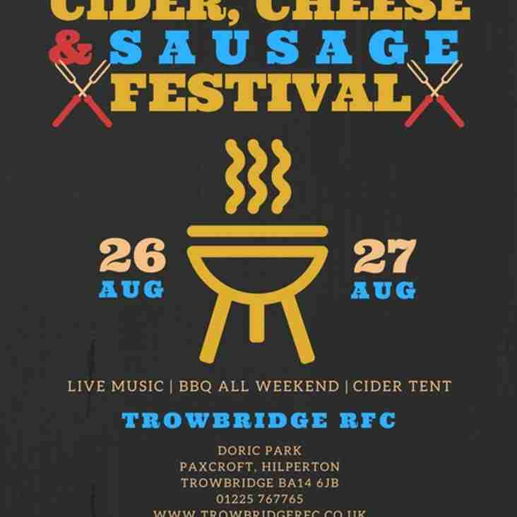 Cider, Cheese & Sausage Festival at Trowbridge RFC