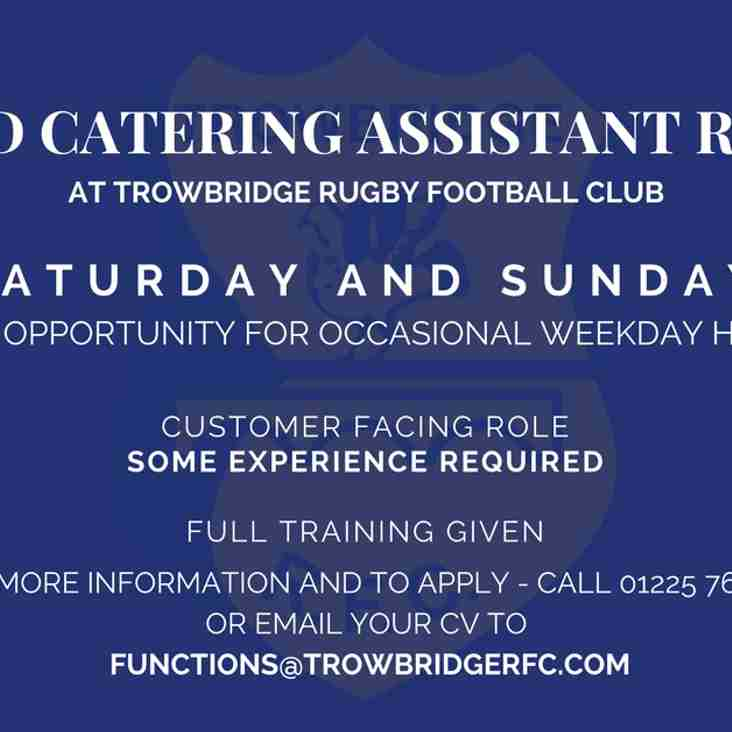 Weekend Catering Assistant Required