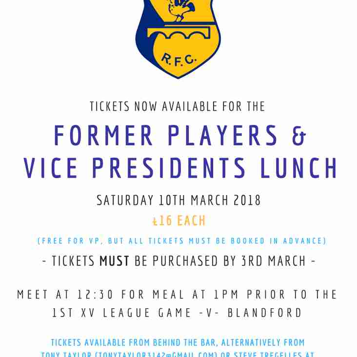 Former Players & Vice Presidents Lunch