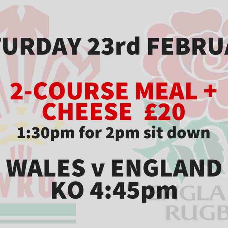 Guinness 6 Nations - Watch Wales v England @ TRFC