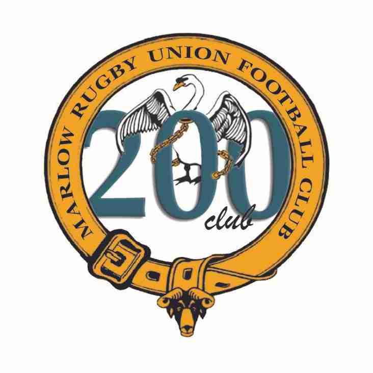 200 Club Draw - May 2018