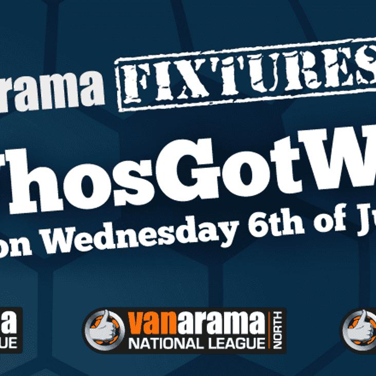 Vanarama National League South fixtures