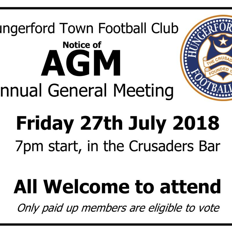 Hungerford Town FC - Annual General Meeting