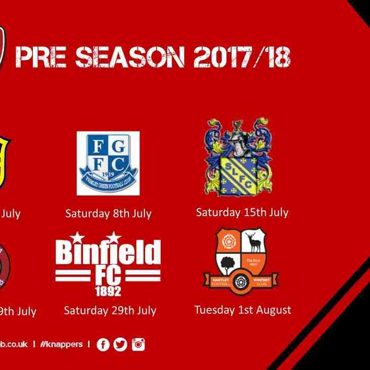 Pre-Season Friendlies Schedule