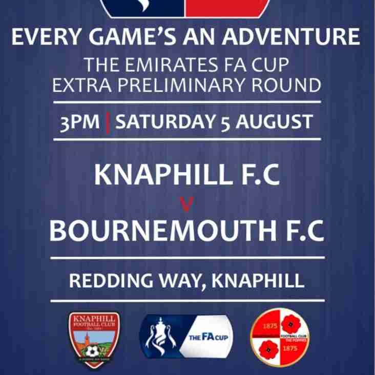 Knaphill v Bournemouth - Admission Prices - Emirates FA Cup