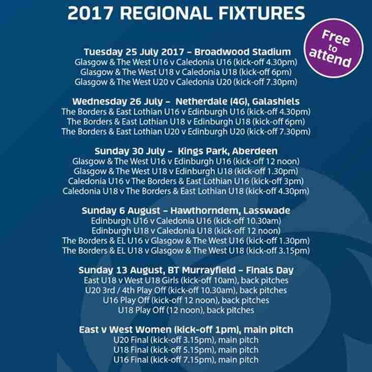 BT Sport Scottish Rugby Academy regional fixtures