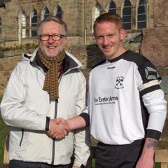 New 1st Team Kit Sponsor - Martin Roper of the 'Exeter Arms' - Derby.