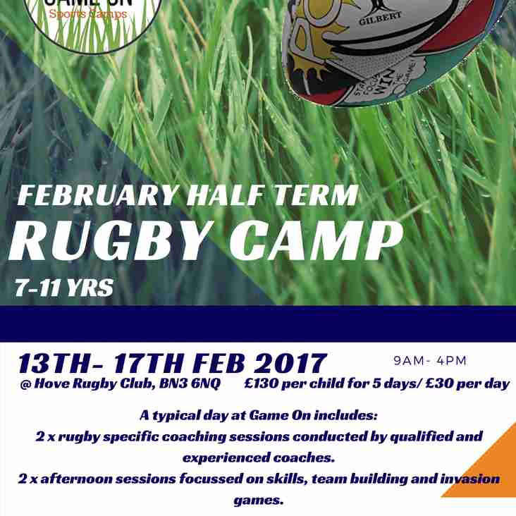 February Half Term Rugby Camp