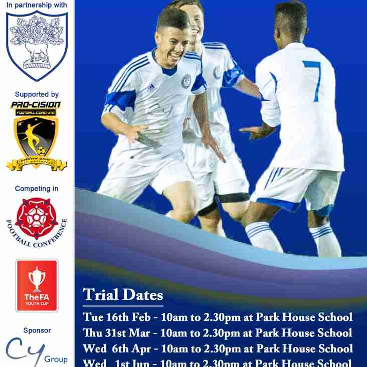 ACADEMY TRIAL DATES FOR 2016