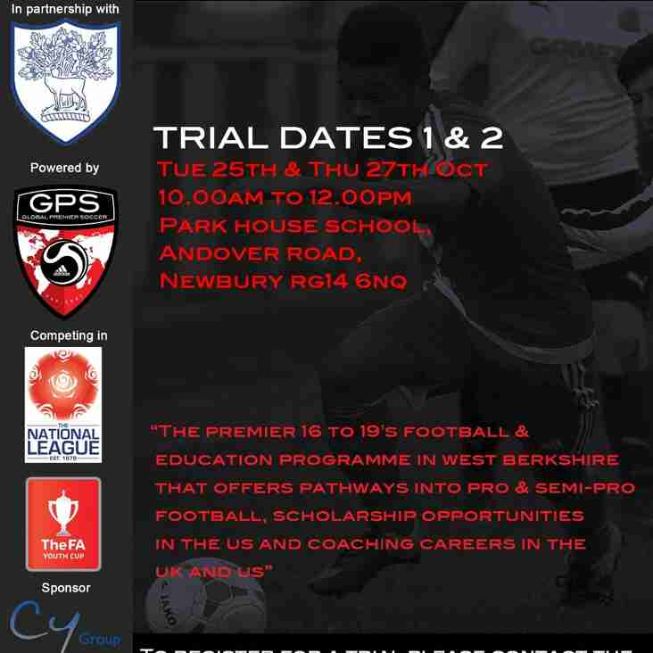 UPCOMING ACADEMY TRIAL DATES