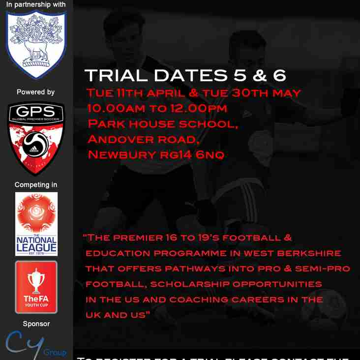LAST CHANCE TO SECURE A PLACE IN THE ACADEMY FOR 2017-18
