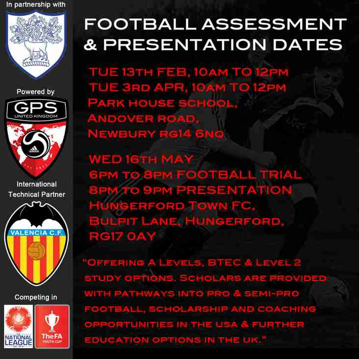 ACADEMY TRIAL TUESDAY 3RD APRIL