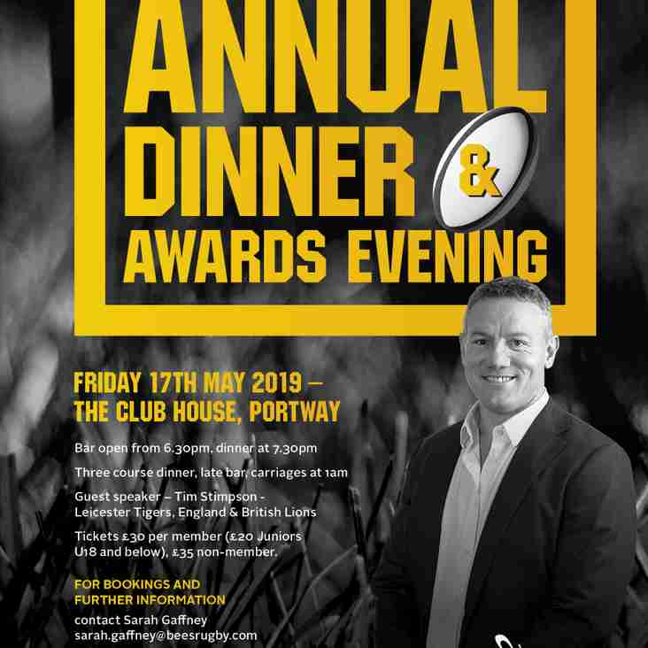Tim Stimpson confirmed as guest speaker at Club Dinner in May