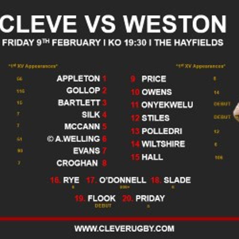 Cleve 1st XV Vs Weston 1st XV