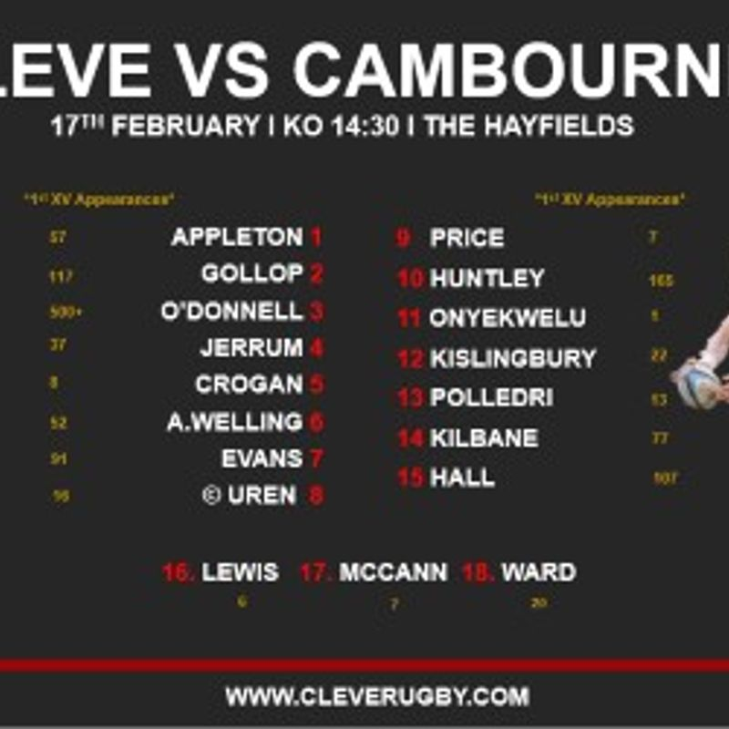 Cleve 1st Xv Vs Cambourne 1st XV