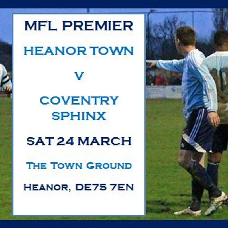 PREVIEW - HEANOR TOWN v COVENTRY SPHINX