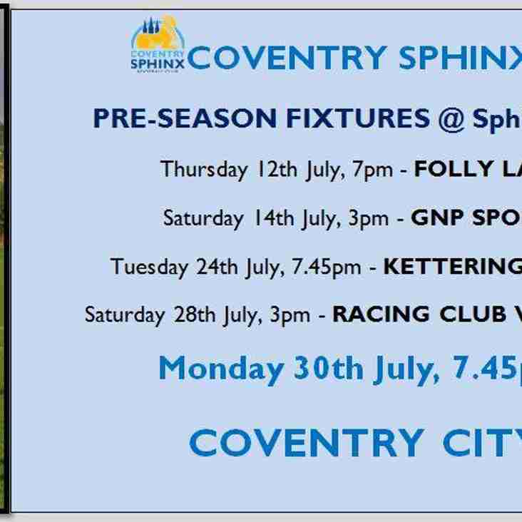 Fixture added to pre-season schedule