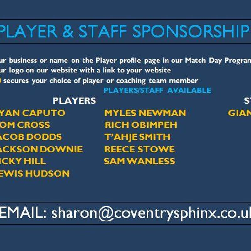 PLAYER SPONSORSHIP PROVING POPULAR