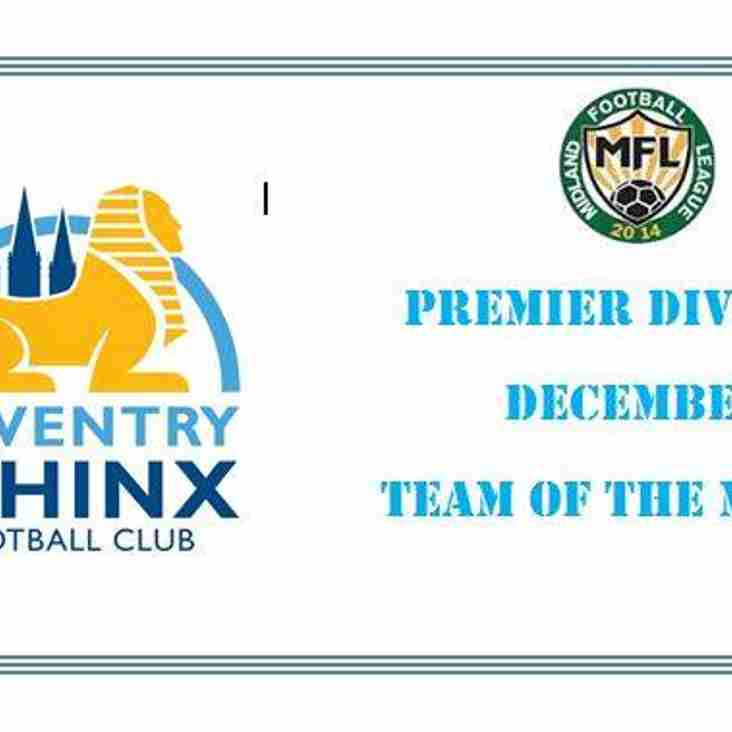 Coventry Sphinx named Team of the Month