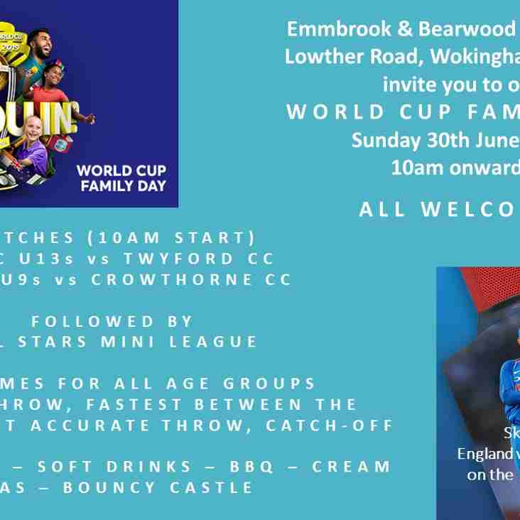 Cricket World Cup Family Fun Day