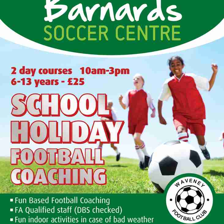 Barnard's Soccer Centre School Holiday Courses