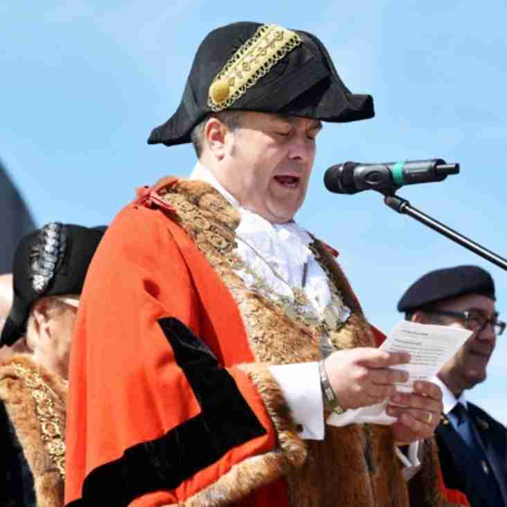 Lowestoft Mayor , Nick Webb to make his final public appearance presenting medals at Barnard's Meadow on Saturday 29th April