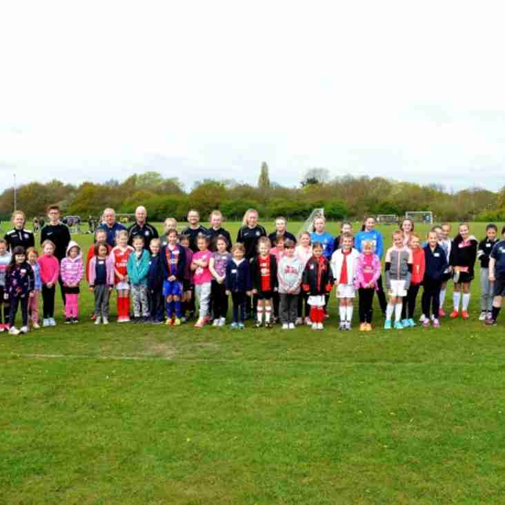 Great turnout for girls football session in Lowestoft