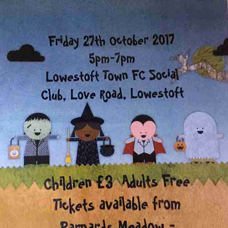 Waveney FC Halloween Party 27th October