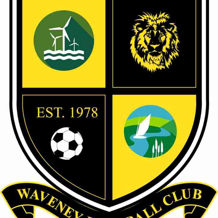 Waveney FC Football results for weekending 22nd September 2018
