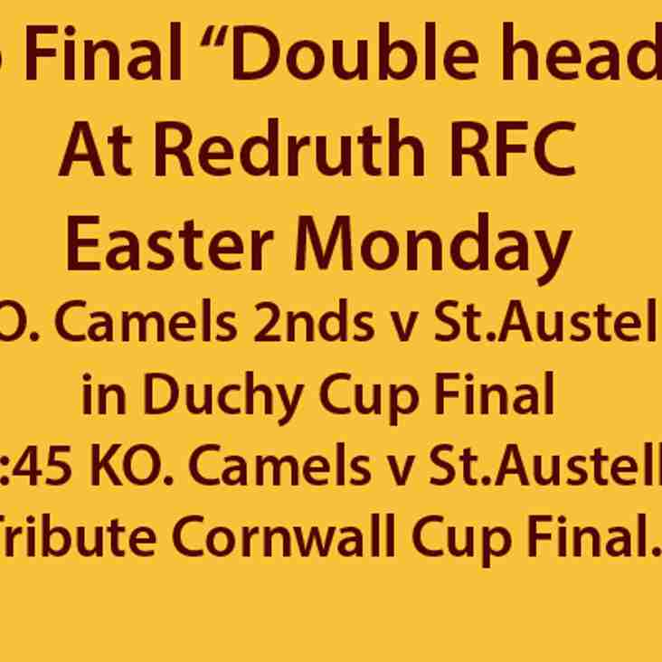 "Cup Finals Day Easter Monday ""Double header""!"