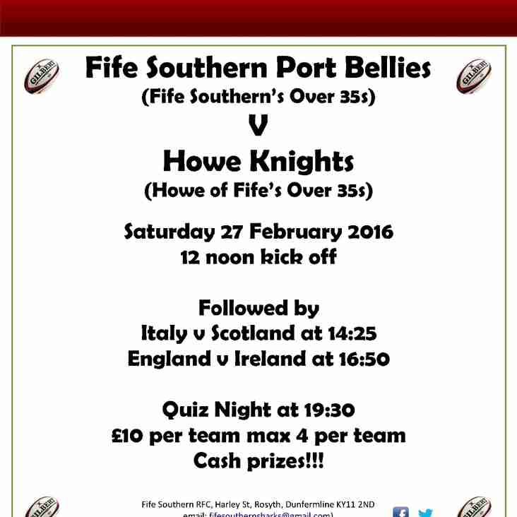 Fife Southern Port Bellies v Howe Knights