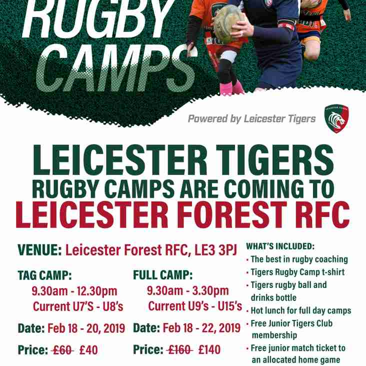 Rugby camp for half term?