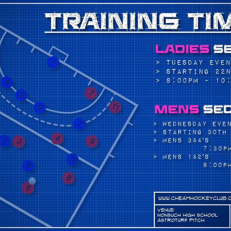2017/18 Training Times