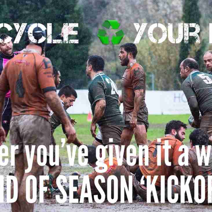 Recycle your old kit at the End Of Season Kick Off on the 21st April.