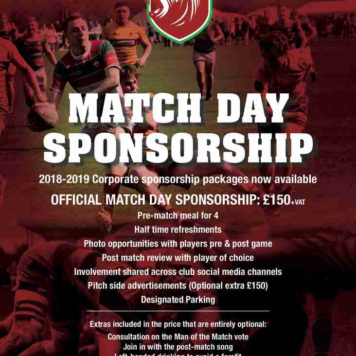 2018/19 Match Day Sponsorship