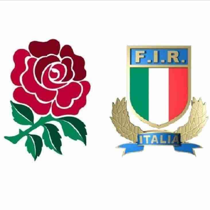 England v Italy This Sunday