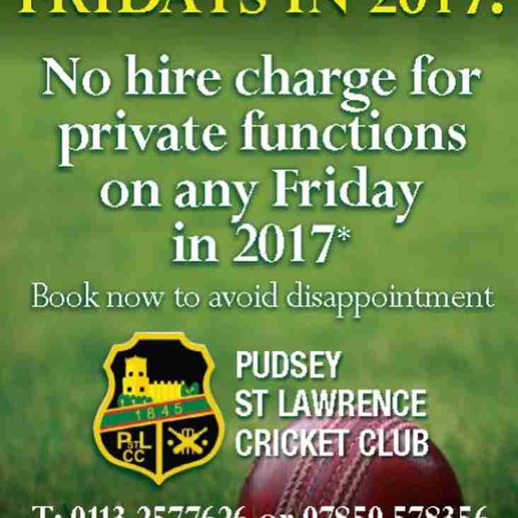 Free Function Fridays For 2017