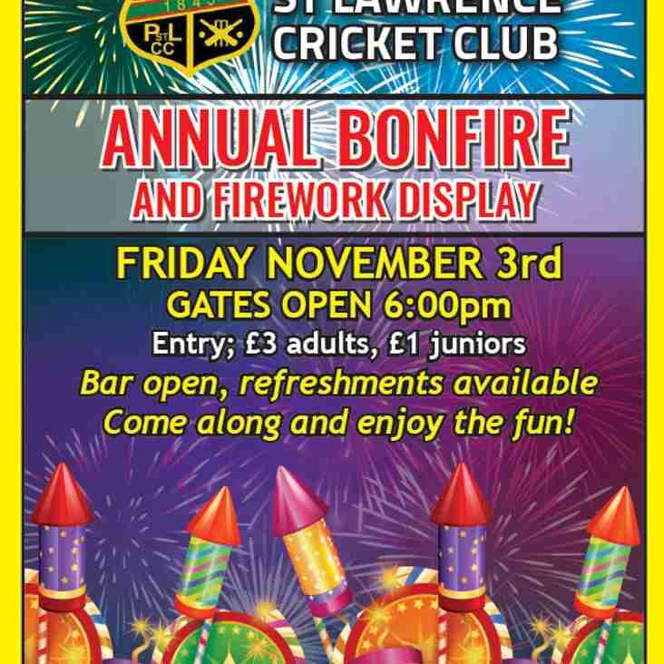 PSL Annual Family Bonfire Night