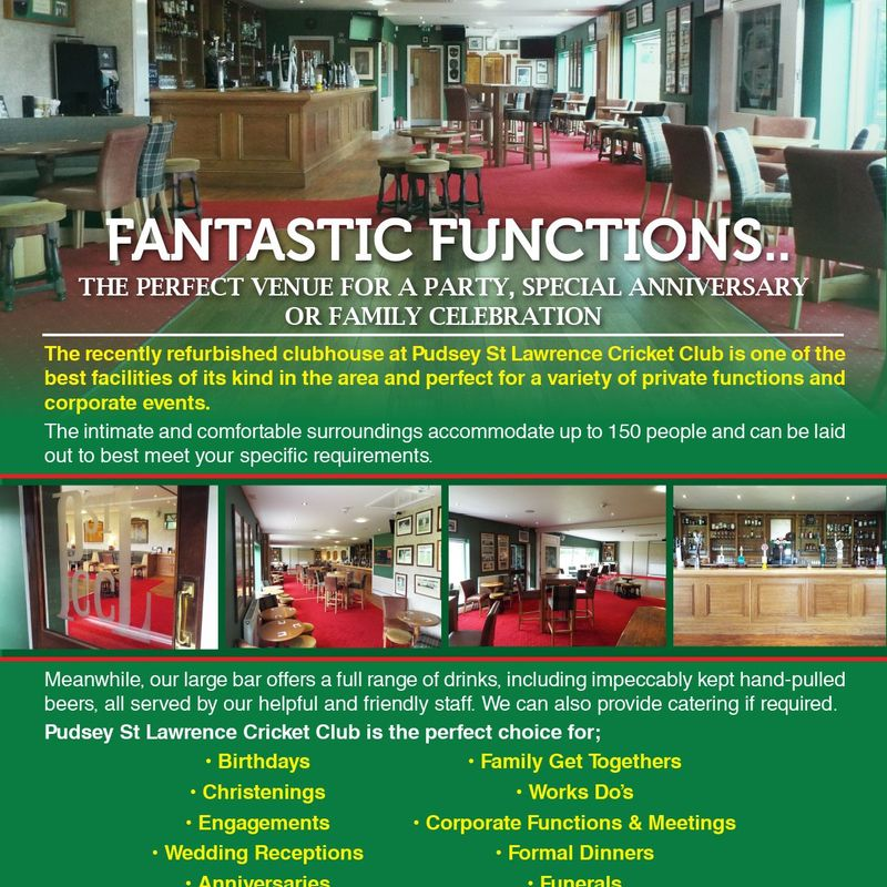 PSL Function Room Hire
