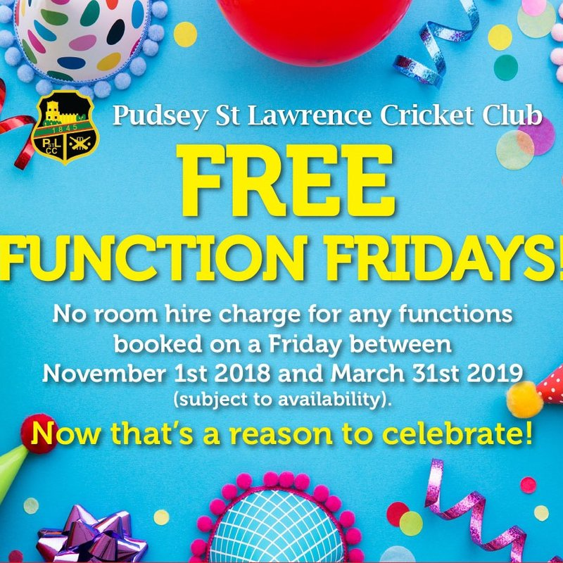 FREE FUNCTION FRIDAYS UNTIL THE END OF MARCH 2019!!