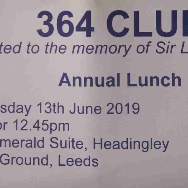 364 Club - The Best Cricket Lunch Of The Year!