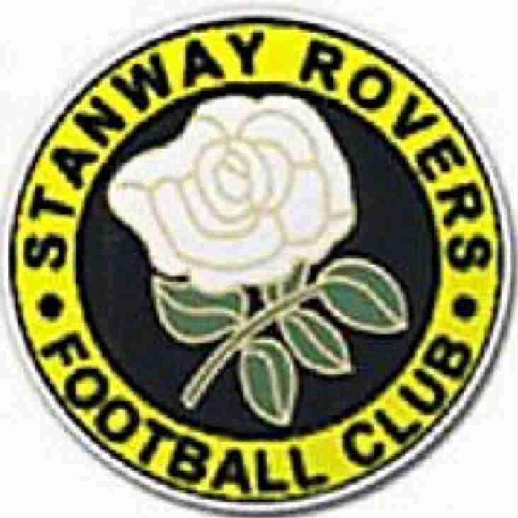 NEXT MATCH: Home v Stanway Rovers (Buildbase FA Vase, 2nd Qualifying Round).