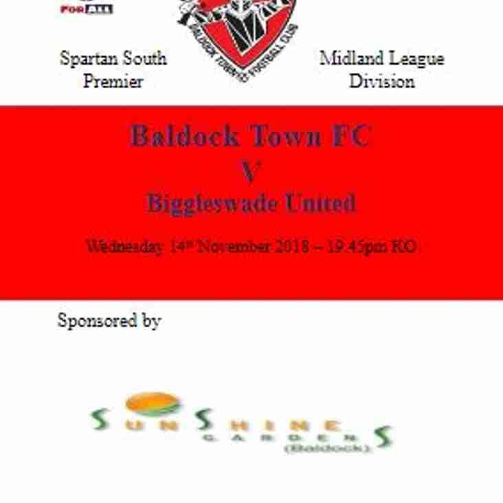 BALDOCK TOWN v BIGGLESWADE UNITED - SSML Premier Division Cup, Quarter-Final