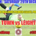 NEXT MATCH - HOME vs LEIGHTON TOWN (SSML, Premier Division)
