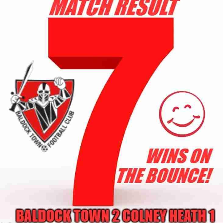 BALDOCK TOWN 2 COLNEY HEATH 1 (HT 2-0)