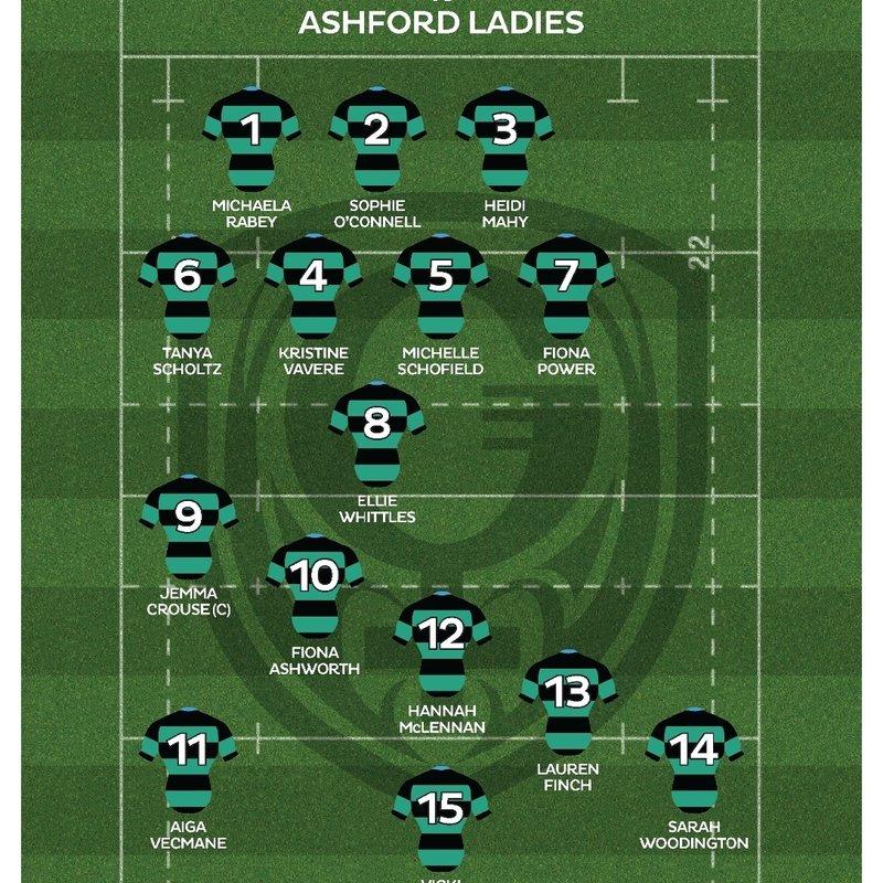 Ladies v Ashford, Saturday 1 October
