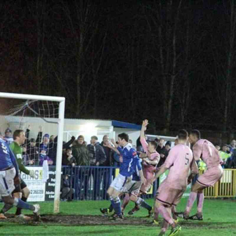 Angels v Dulwich Hamlet 02.01.16.  by David Couldridge